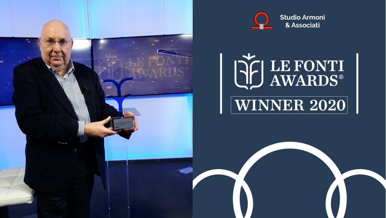 Studio Armoni premiato da Le Fonti Awards